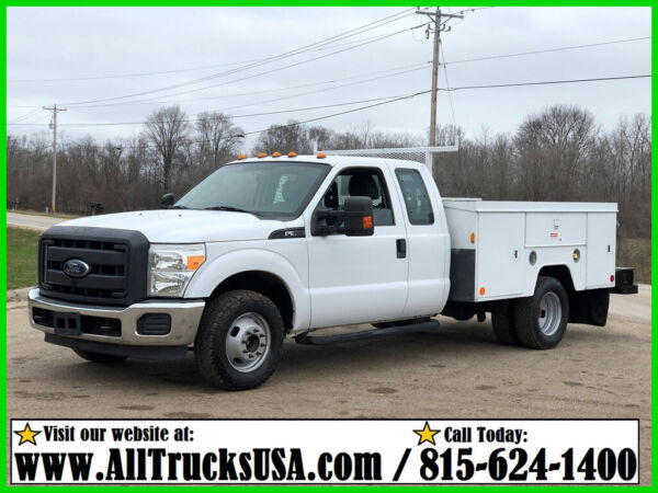 2012 FORD F350  6.2 V8 GAS  9' ETI BED SERVICE UTILITY TRUCK EXT CAB 168k MILES