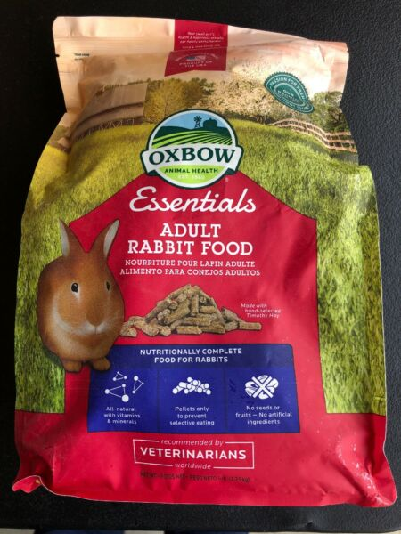 Oxbow BUNNY Essentials Food High Fiber Timothy Pellet for Rabbits 5 Pounds $15.25