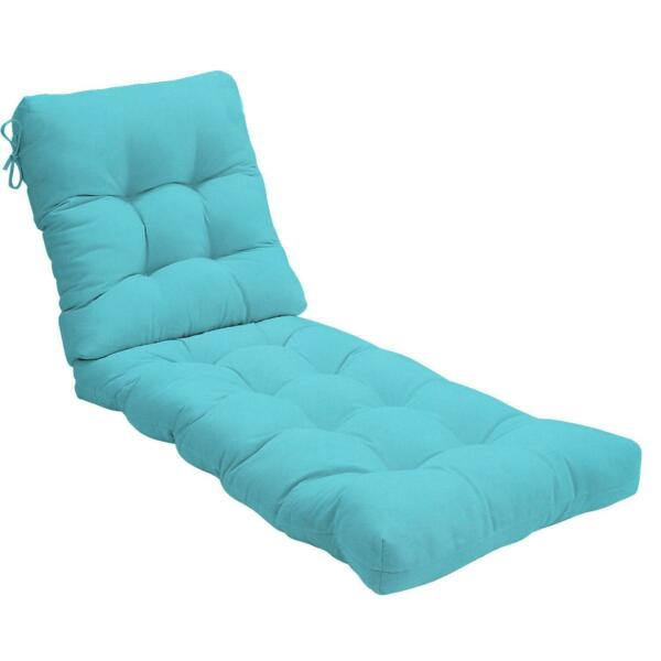 Sunbrella Canvas Outdoor Replacement Chaise Lounge Cushion Tufted 22 Colors $288.80