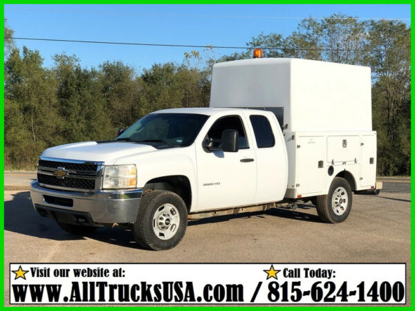 2012 CHEVROLET 3500HD 6.0 GAS 9' FIBERGLASS ENCLOSED BED SERVICE TRUCK Used 160K
