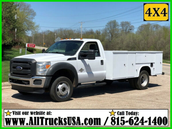 2012 Ford F550 4X4 6.7 DIESEL 11' KNAPHEIDE BED SERVICE TRUCK Used Regular Cab