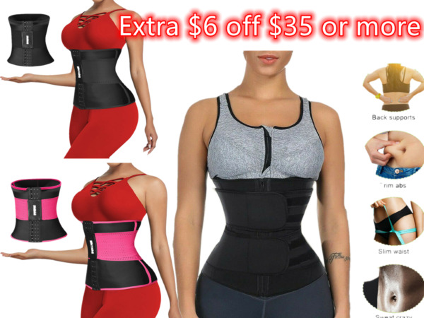 Women Waist Trainer Body Shaper Slimmer Sweat Belt Tummy Control Neoprene Belt