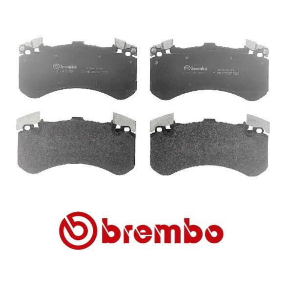 Front Brake Pad Set Ceramic For Audi S6 S7 S8 A6 A7 A8 Quattro with 400mm Rotors $98.96