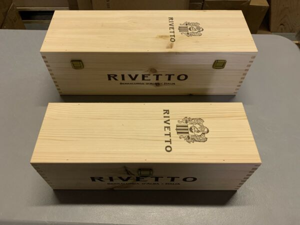 Two Italian Hinged Lid Wine Crates With Clasps
