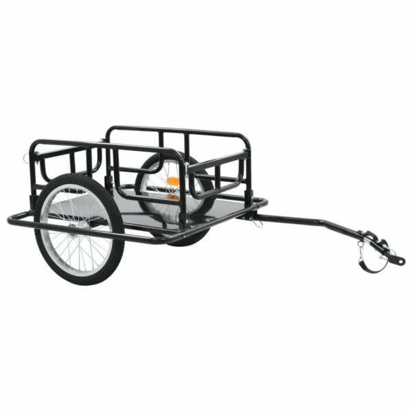 Bike Cargo Trailer 51.2quot;x28.7quot;x19.7quot; Steel Black $131.71
