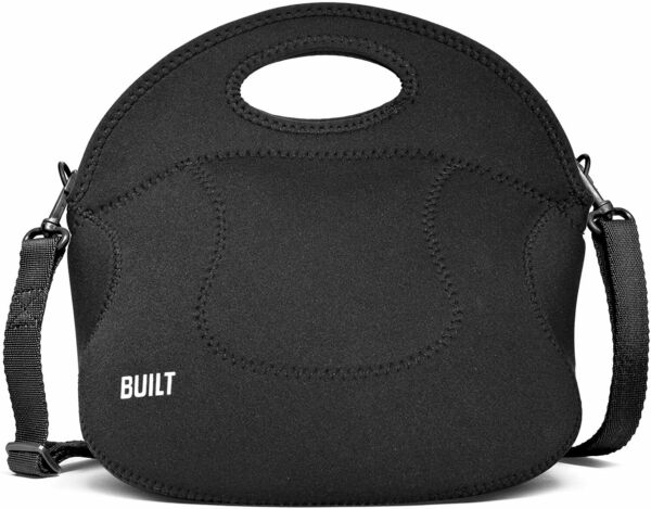BUILT Spicy Relish Neoprene Lunch Bag with Adjustable Crossbody Strap