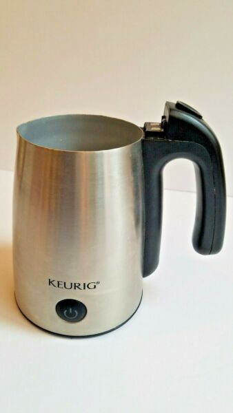 Keurig CUP ONLY One Touch Stainless Steel Electric Milk Frother Model MF 02