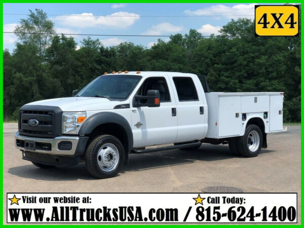 2012 Ford F550 4X4 6.7 DIESEL 9' KNAPHEIDE BED SERVICE TRUCK Used Crew Cab