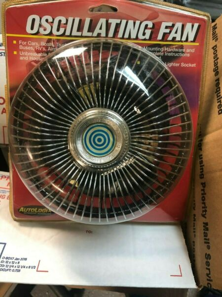 FREE SHIP NEW 12V Auto Car Fan Vehicle Dashboard PersonalOscillating Cooling Fan