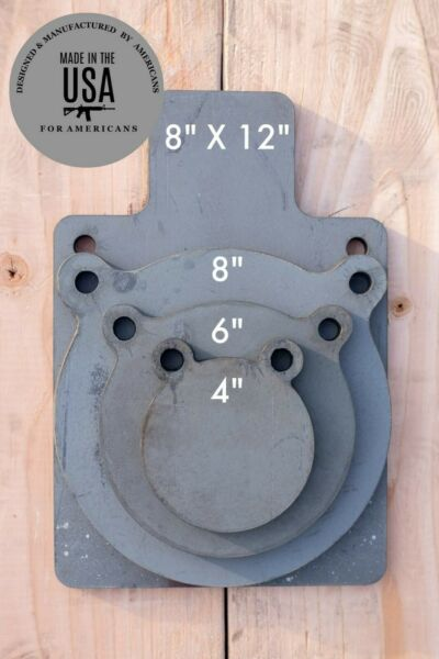 3 8quot; AR500 Shooting Target 4pc Set 4quot; 6quot; 8quot; and 8quot;x 12quot;  Silhouette USA MADE  $41.50