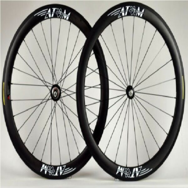 Atom CR50 Carbon Fiber Clincher Cycling Road wheel Set 50mm