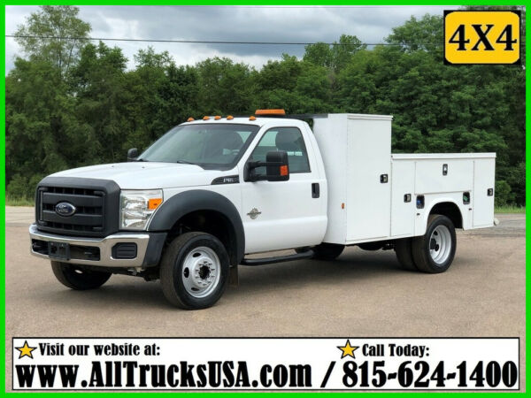 2015 Ford F550 4X4 6.7 DIESEL 11' KNAPHEIDE BED SERVICE TRUCK Used Regular Cab
