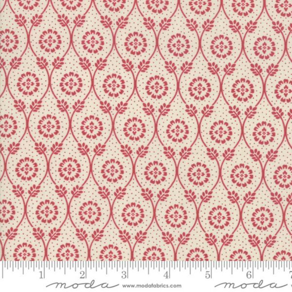 French General CHAFARCANI in Pearl Rouge Moda Fabric Sold by 1 2 Yd