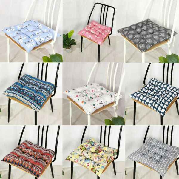 Indoor Outdoor Cushion Seat Chair Pad with Ties Garden Dining Yard Patio Office C $14.71