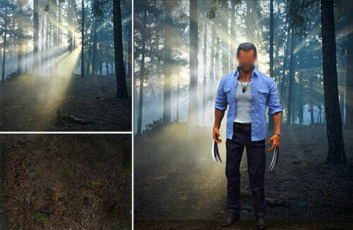 POSTER BACKDROP SHIPS ROLLED LOGAN TIMBERLAND FOR 1 6 WOLVERINE FIGURES X MEN $47.99