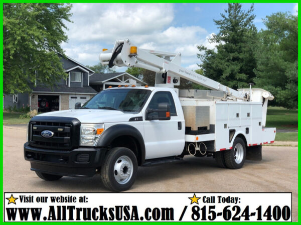 2012 FORD F550 6.8L V10 GAS Used Regular Cab 42' ETI BUCKET TRUCK 137K MILES