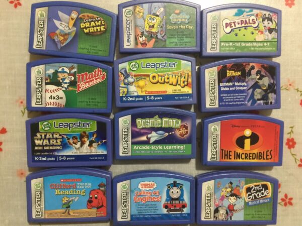 Leap frog Leapster Lot of 12 Games Cartridges $12.00