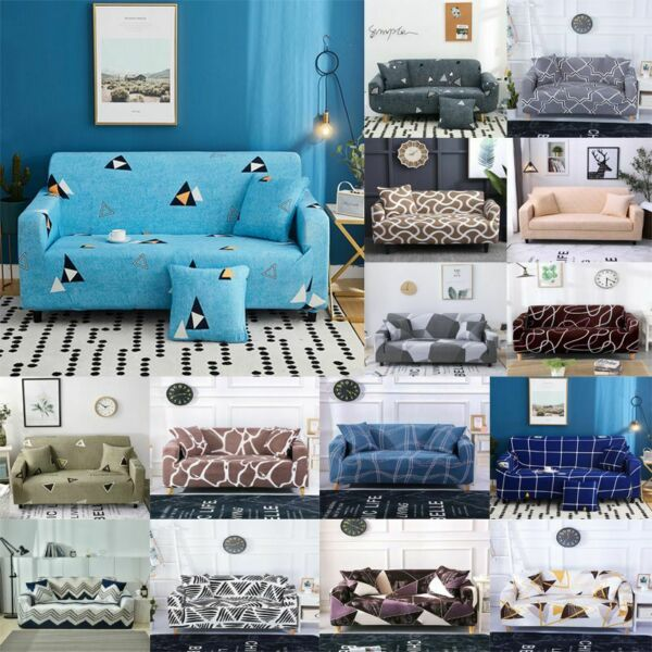 Printed Slipcover Sofa Covers Spandex Stretch Couch Cover Furniture Protectors $20.32