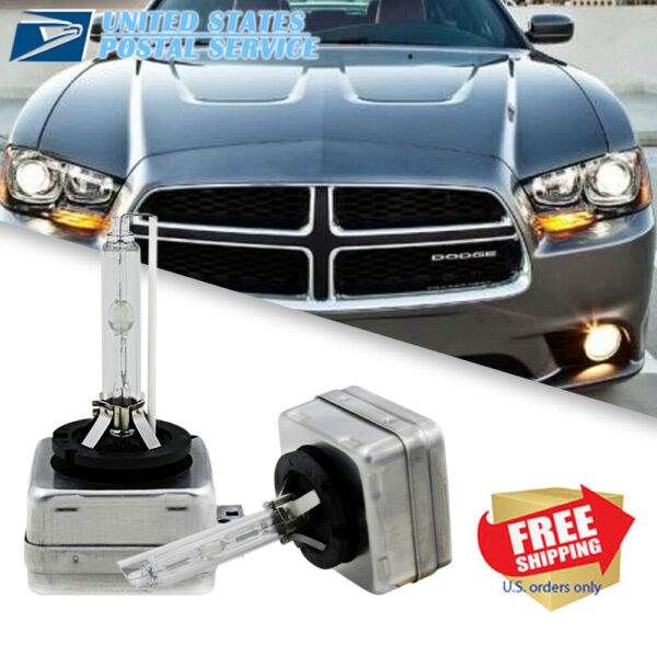 6000K White HID Xenon Headlight Bulbs for Dodge Charger 2011 2014 Low Beam Qty 2