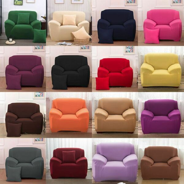 Waterproof Non Slip Slipcover 1 2 3 4 Seater Stretch Chair Sofa Cover Protector $23.11