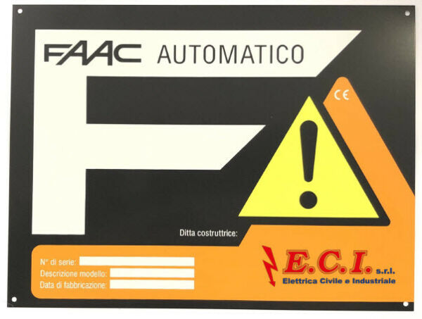 Sign Automatic Gate Automation Electrical FAAC $4.97
