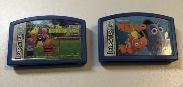 Leapster Leap Frog 2 Game Cartridges Lot Disney Finding Nemo & Backyardigans $8.99