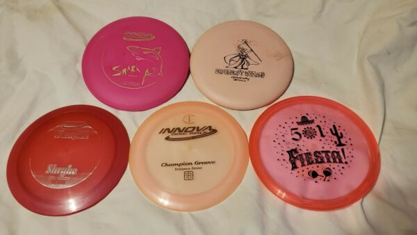 disc golf lot: The pinkish group $15.00