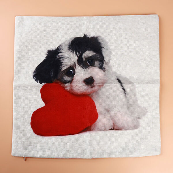 Household Cover Linen Cushion Dog Covers Sofa Pillow Case Decoration $6.97