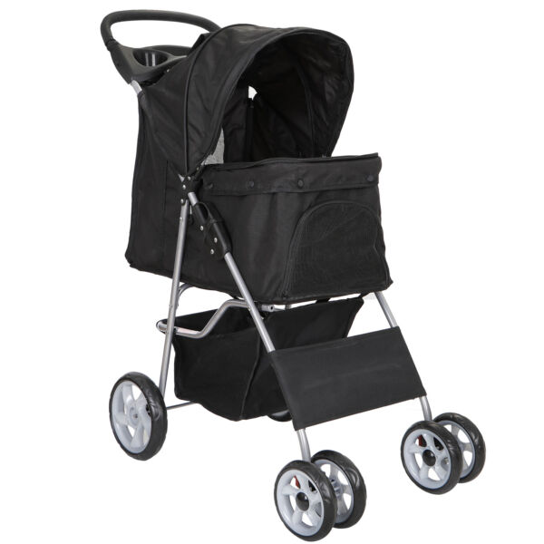Dog Stroller Pet Travel Carriage Safe 4 Wheeler Heavy Duty with Carrier Cart $69.99
