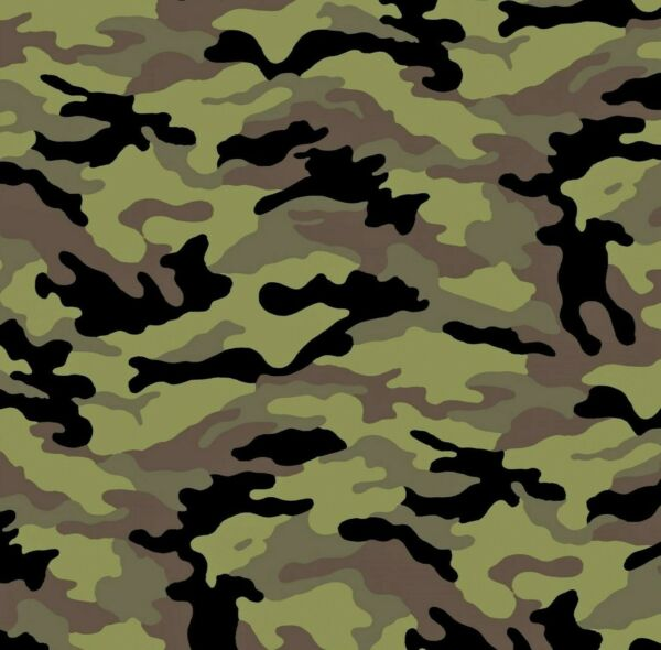 Military Style Army Fashion Camo Cotton Fabric By The 1 2 Half Yard 18quot; x 44quot;W