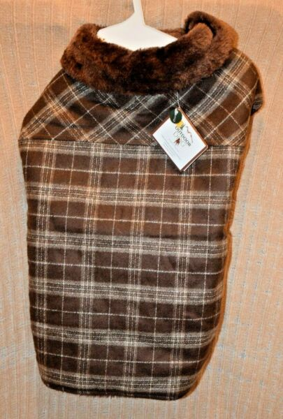 Outdoor Dog Warm Brown Country Plaid Pet Dog Large $24.30