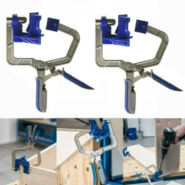 2 x 90 Degree Right Angle Corner Clamp Woodworking Wood for Kreg Jig Clamps Tool
