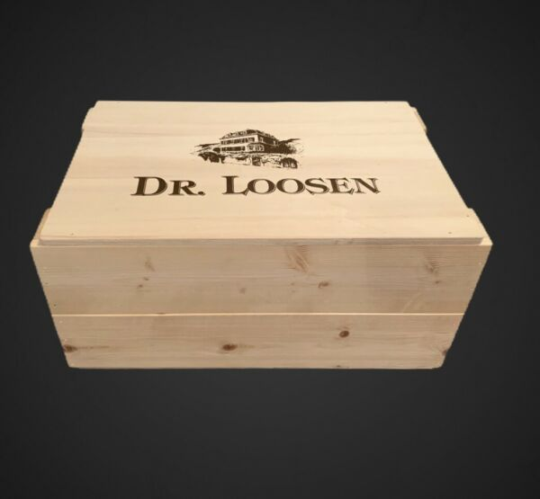 Set Of TWO Dr. Loosen White Labeled 6 Bottle 750ml Wine Crates
