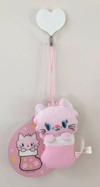 Sanrio Vintage Frooliemew Christmas Stocking Ornament Strap Plush Pink Cat Cute
