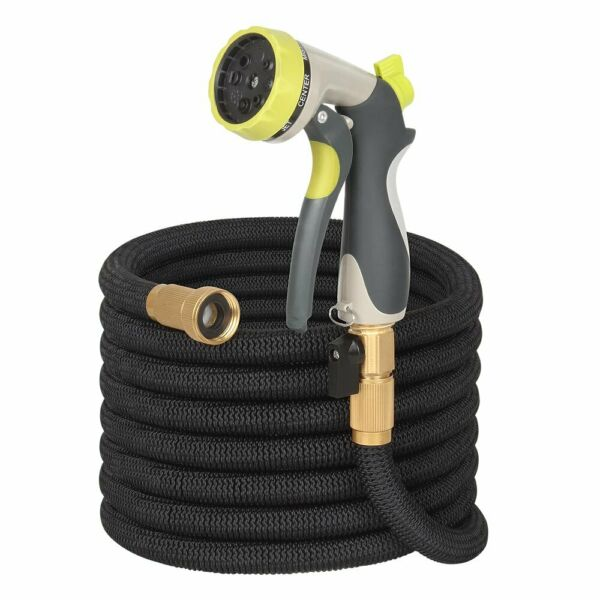 50Ft Expandable Garden Hose Water Hose igh Pressure Spray Nozzle Brass Connector
