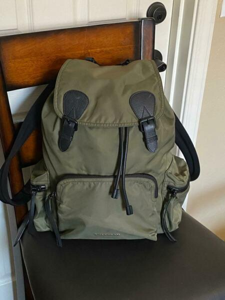 Burberry The Large Rucksack Olive Backpack