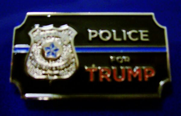 Bag of 10. POLICE for TRUMP 2020 Campaign Pins with Blue Line amp; Badge. Classy
