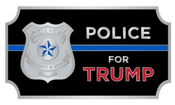Bag of 50. POLICE for TRUMP 2020 Campaign Pins with Blue Line amp; Badge. Classy $115.00