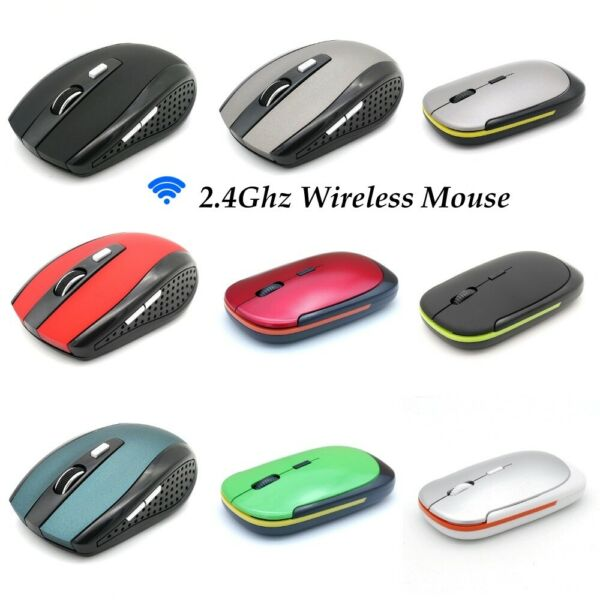 2.4GHz Mouse Wireless Optical PC Laptop Mice USB Receiver Gaming Button Cordless