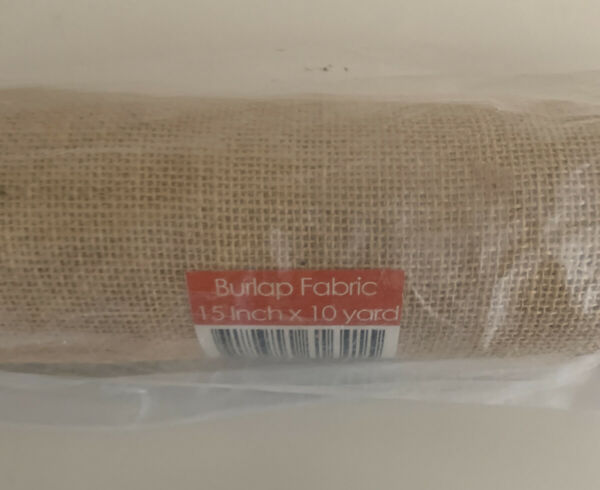 15quot; Premium Burlap Roll 10 Yards Finished Edges Natural Jute Burlap Fabric