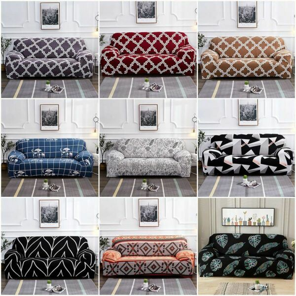 Printed Slipcover Sofa Covers Spandex Stretch Couch Cover Furniture Protectors $20.97