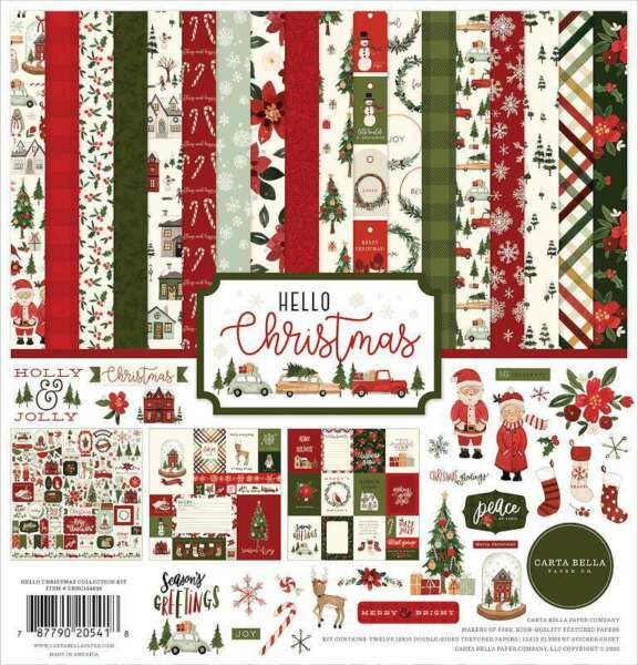 Carta Bella Collection Kit 12quot;X12quot; Hello Christmas 787790205418