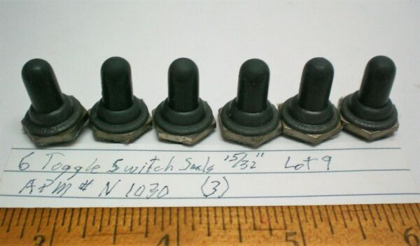 6 Switch Seals Military for 15 32quot; Switches APM # N1030 Lot 9 Made in USA