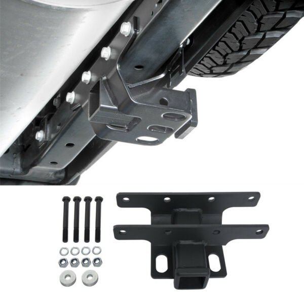 Textured 2quot; Towing Black Rear Trailer Receiver Hitch for 07 18 Jeep Wrangler JK $36.85