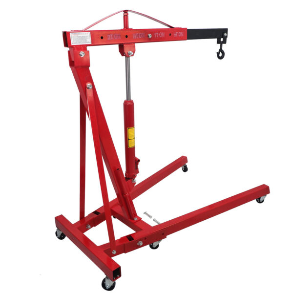 2 TON Red 4400lb Heavy Duty Engine Motor Hoist Cherry Picker Shop Crane Lift $239.98