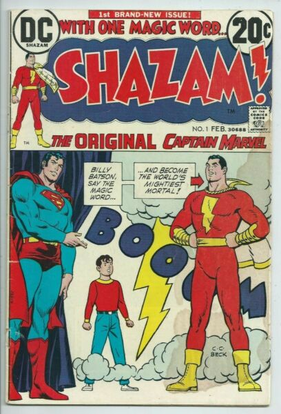 🔥SHAZAM #1** 1973 DC COMICS **CAPTAIN MARVEL**BRONZE AGE**GD**LOW GRADE STAIN