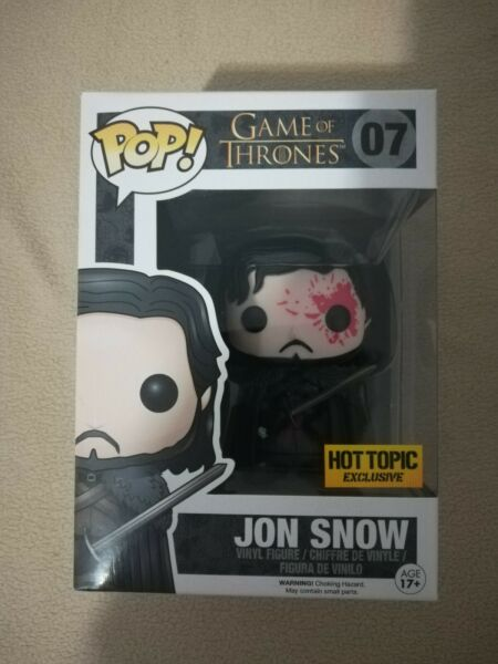Funko Pop Game Of Thrones John Snow Bloody Hot Topic Exclusive In Protector