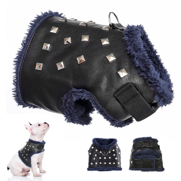 PU Leather XXS Dog Harnesses for Small Dogs Puppy Fleece Padded Vest Chihuahua $8.99