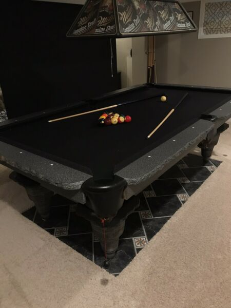 Custom Pool Table made in Illinois by Gurami  Gorgeous faux granite