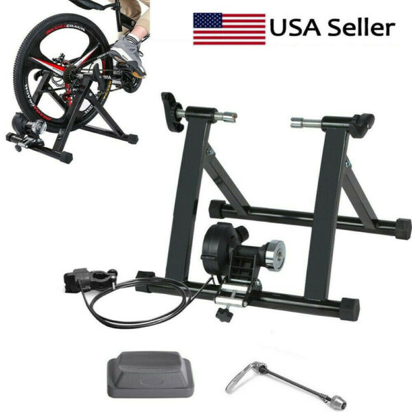 US Bike Trainer Stand Magnetic Bicycle Stationary Stand For Indoor Exercise HOT $89.99